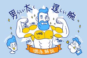男らしい太くたくましい腕の作り方を徹底解説!