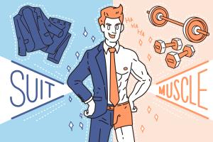 スーツがビシッと似合う筋肉の作り方のアイキャッチ